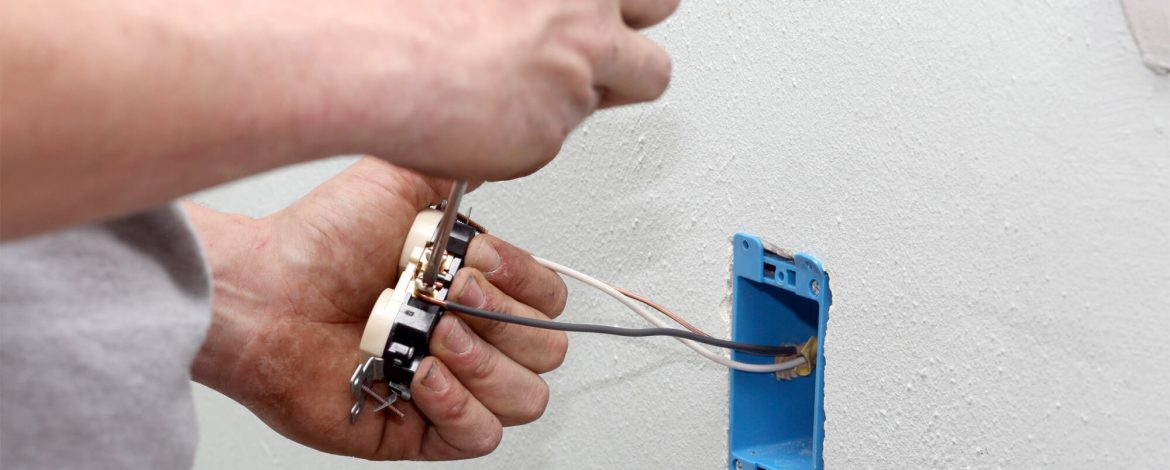 Get an electrician to repair electrical outlet-box