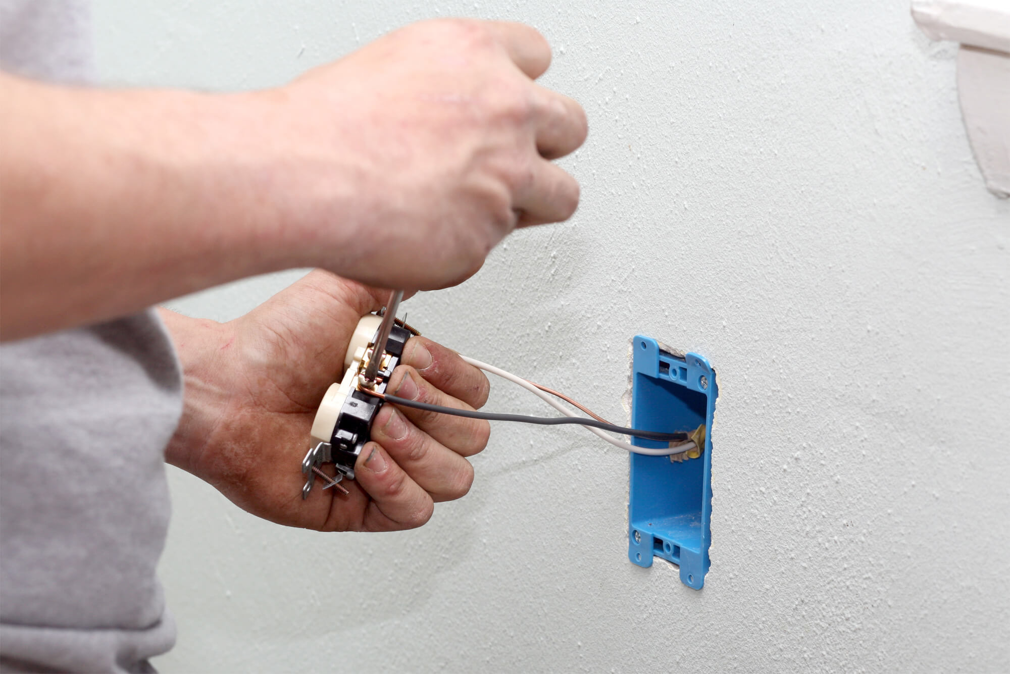 Loose Electrical Outlet Box? Get an electrician to repair it